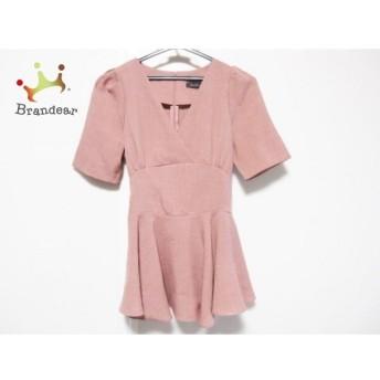 デュラスアンビエント チュニック サイズF レディース 美品 ピンクベージュ リボン   スペシャル特価 20200119