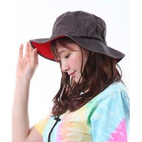 (Revivals Gallery/リバイバルズギャラリー)撥水 サファリハット レディース メンズ 大きいサイズ つば広 レインハット 防水 夏フェス アドベンチャーハット UV 99.9%以上 折りたたみ 登山 帽子/ユニセックス グレー