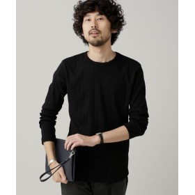 ワイド針抜きリブクルーネックTシャツ L/S 5000円以上送料無料【公式/ナノ・ユニバース】