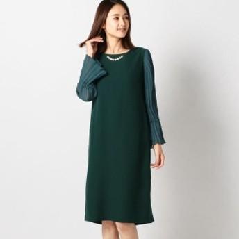 ミューズ リファインド クローズ(MEW'S REFINED CLOTHES)/バックサテンサックドレス
