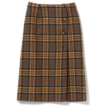 Ray BEAMS チェック リバー ラップ スカート