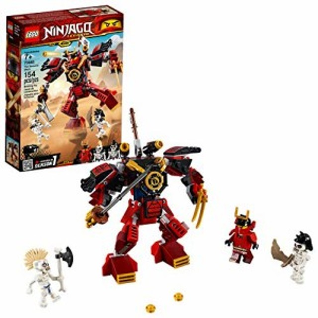 レゴLEGO NINJAGO Legacy Samurai Mech 70665 Toy Mech Building Kit  comes with NINJAGO Minifigures, Stud Shoot