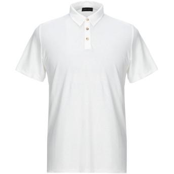 《セール開催中》ROBERTO COLLINA メンズ ポロシャツ ホワイト 46 コットン 100%