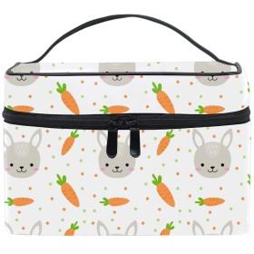 バニーメイクボックス コスメ収納 トラベルバッグ 化粧 バッグ 高品質