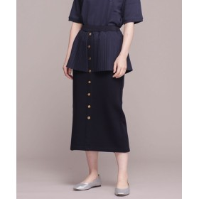 【公式/ナノ・ユニバース】ペプラムスカート 5000円以上送料無料【MUVEIL】