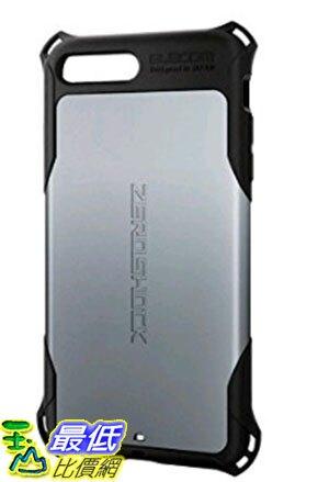 [東京直購] ELECOM ZEROSHOCK 手機保護殼 PM-A16LZEROSV(5.5吋) 銀色 相容:iPhone 7 Plus