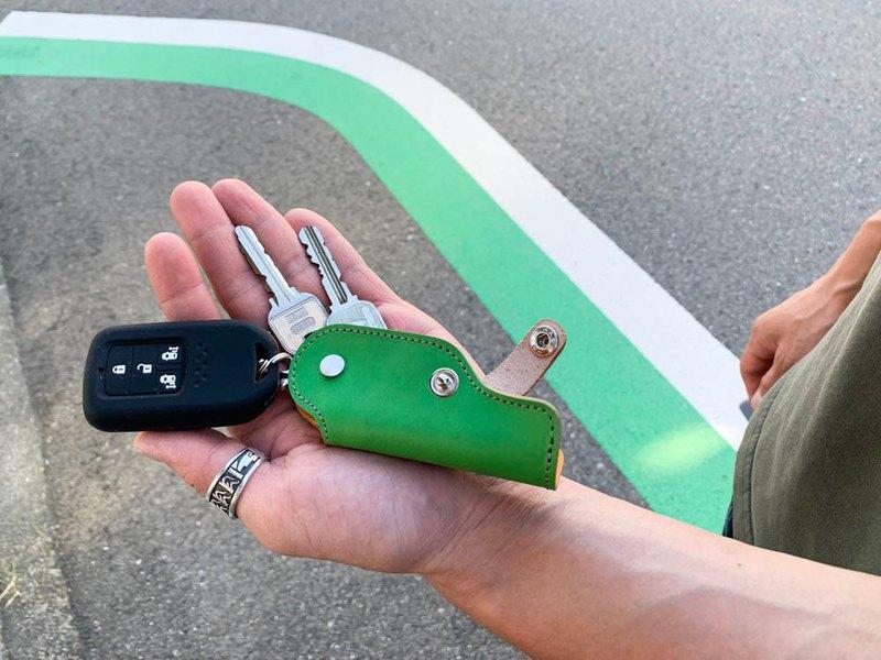SLIDE SLIDE 休閒流行石灰 x 檸檬滑槍鑰匙包緊湊型存儲 SGK-GCY-H