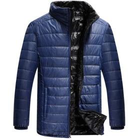 折り畳み式の男性用軽量ダウンジャケット、冬防水ジャケットスタンドカラー(サイズ:M、L、XL、XXL)