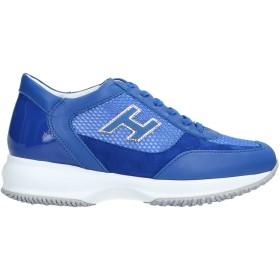 《セール開催中》HOGAN レディース スニーカー&テニスシューズ(ローカット) ブルー 35 革 / 紡績繊維