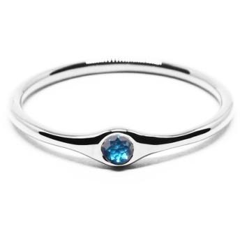小粒の海色ブルーダイヤモンドPt900ミニマムリング【Pio by Parakee】Platinum diamond