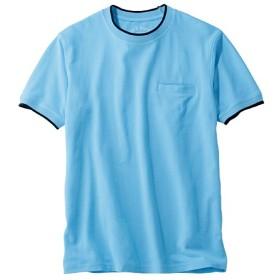 69%OFF【メンズ】 ドライ・綿100%鹿の子Tシャツ。待望のスマホ対応ポケット付き! - セシール ■カラー:サックス ■サイズ:S