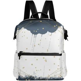 水墨 リュック 学生用 デイパック レディース 大容量 バックパック 男女兼用 機能性 大容量 防水性 デザイン 旅行 ブックバッグ ファション
