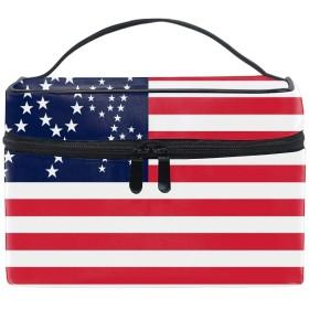 トラベルポーチ メイクポーチ 化粧ポーチ 充電器ポーチ 軽いアメリカの国旗