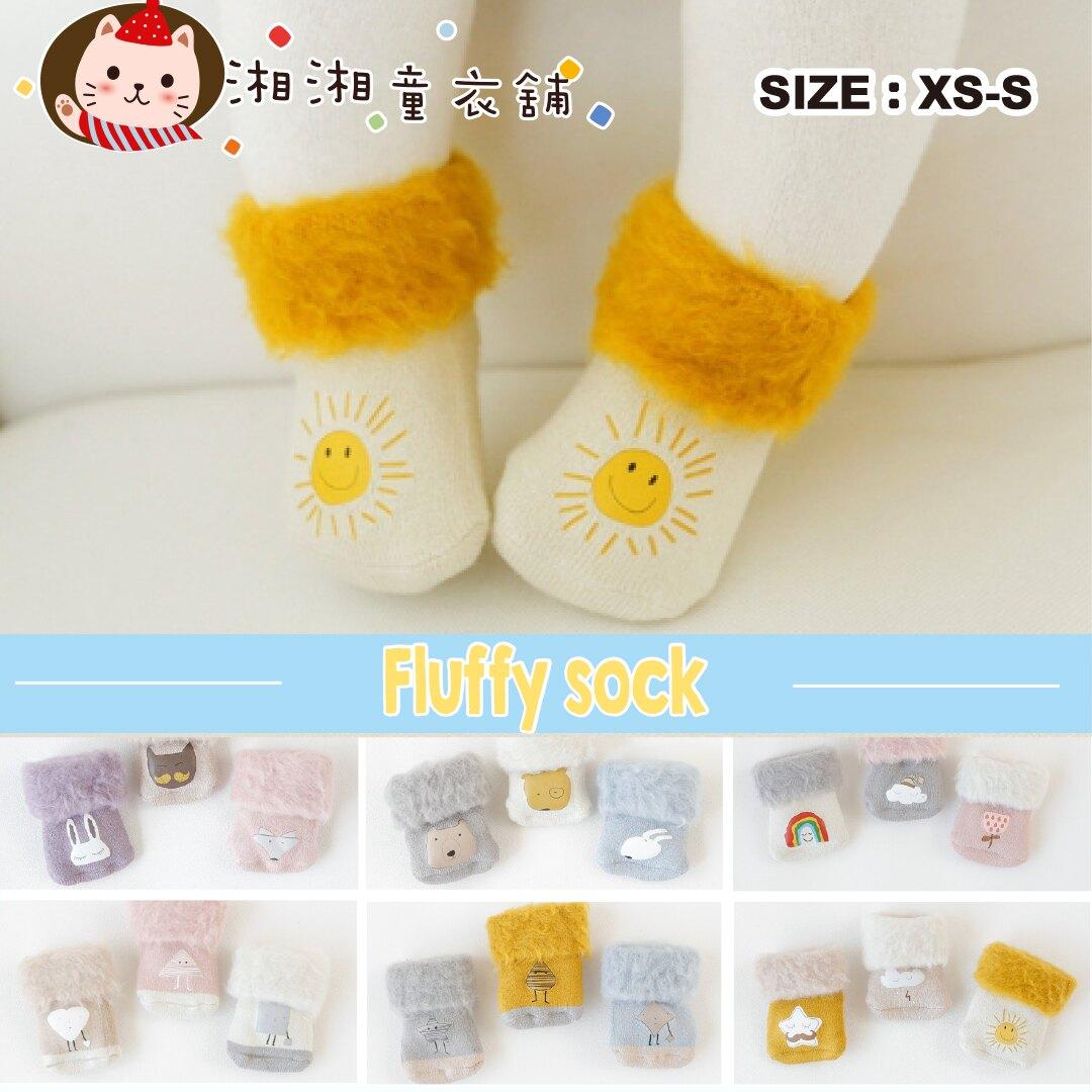 【M1018】3雙1組 兒童襪 嬰兒襪 加絨加厚寶寶襪子 卡通高筒嬰兒襪 寶寶襪子