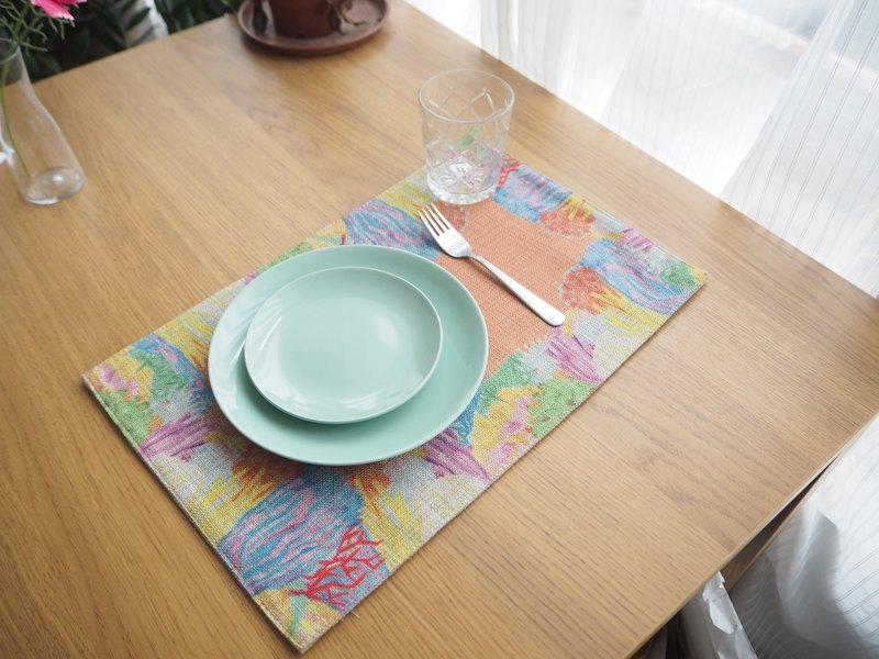 彩色珊瑚餐墊開胃橙色系桌墊鍋墊