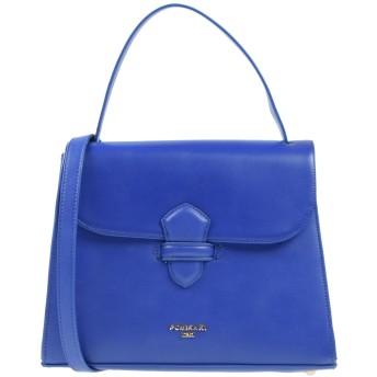 《セール開催中》POMIKAKI レディース ハンドバッグ ブルー 紡績繊維