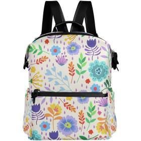 花柄 かわいい リュック 学生用 デイパック レディース 大容量 バックパック 男女兼用 機能性 大容量 防水性 デザイン 旅行 ブックバッグ ファション