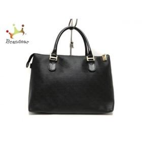 ゲラルディーニ GHERARDINI ハンドバッグ 美品 黒 PVC(塩化ビニール)×レザー 新着 20191010