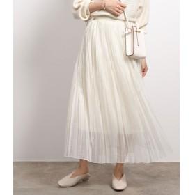 【ロペ マドモアゼル/ROPE madmoiselle】 オーガンジーランダムプリーツスカート