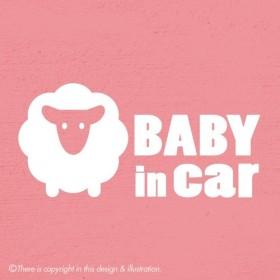 ベビーインカー/ひつじ001 baby in car ★ ステッカー