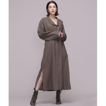 【公式/ナノ・ユニバース】Stand collar dress 5000円以上送料無料【ELIN】