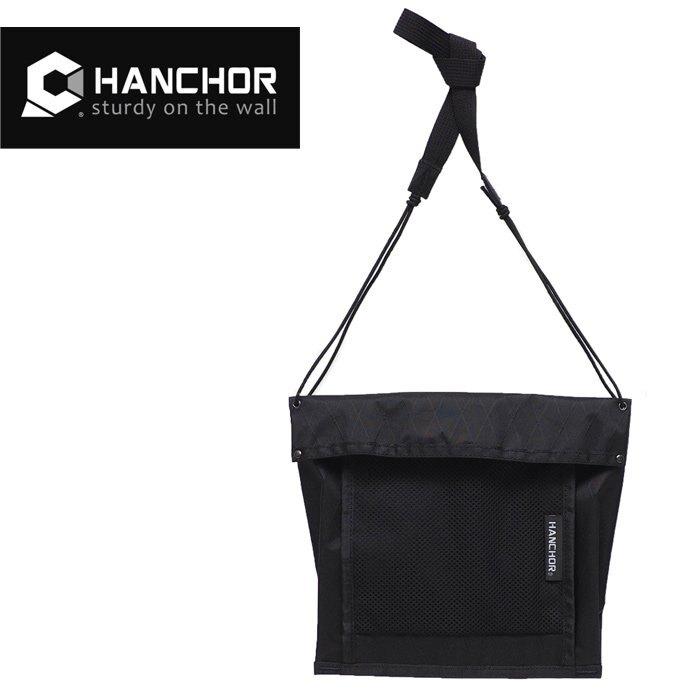【HANCHOR 台灣】FACET 輕量隨身斜背小包 護照包 旅行隨身袋 黑色 (OD24)