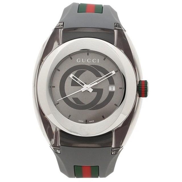 【返品OK】 グッチ 腕時計 レディース メンズ GUCCI YA137109 グレー