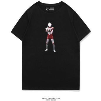 qiaoqiao UItraman ウルトラマン 怪獣 Kaiju Godzilla ゴジラ メンズ/レディース Tシャツ/夏服 スポーツ Tシャツ 半袖 Tシャ