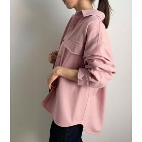 ロペ マドモアゼル/ウールフラノCPOシャツジャケット/ピンク/38