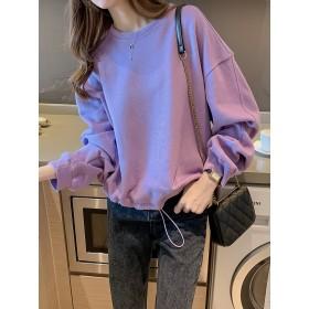 【送料無料】韓国ファッション レディース 長袖 tシャツ トップス シフォン 上着 ゆったり 着痩せ おしゃれ 可愛い 通勤 通学 大きいサイズ ロングシャツ カットソー M-4XL