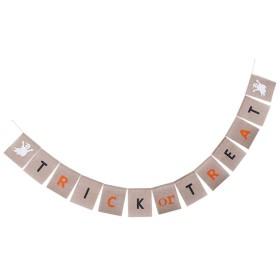 ハロウィーンの三角カボチャのゴーストバンチングバナーガーランドの装飾写真の小道具 - #5
