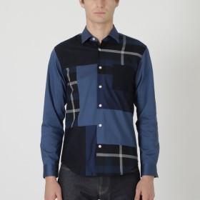 [マルイ] クレストブリッジチェックパッチワークシャツ/ブラックレーベル・クレストブリッジ(BLACK LABEL CRESTBRIDGE)