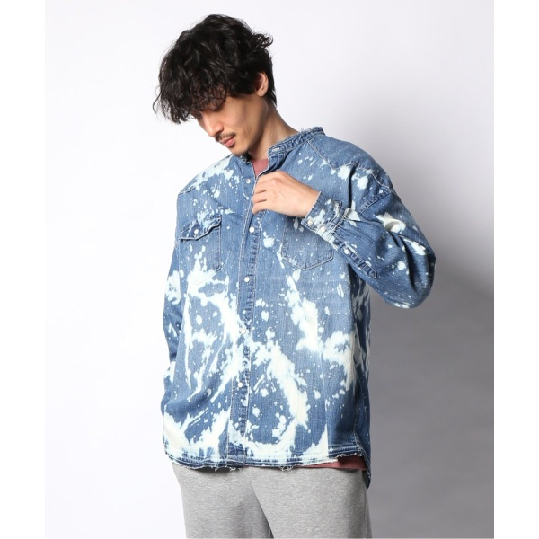 YUNY Men Casual Long-Sleeve Floral Print Slim Fit Button Down Western Shirt AS1 L