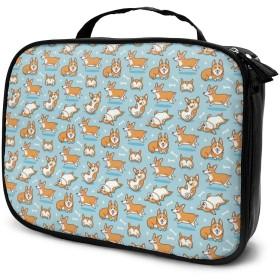 笑う犬 化粧バッグ 男女兼用化粧袋 洗面用品収納バッグ プレゼント大容量 多機能 普段使い 出張 旅行