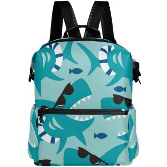 サメ リュック 学生用 デイパック レディース 大容量 バックパック 男女兼用 機能性 大容量 防水性 デザイン 旅行 ブックバッグ ファション