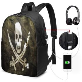 大容量のバックパック USBインターフェイス付きバックパック 海賊ジャックキャプテンCaptain Jack 外部USBインターフェイス、1つのヘッドフォンケーブルインターフェイス 学校、アウトドアスポーツ、旅行、登山、サイクリングに適しています