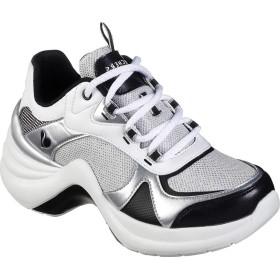 [スケッチャーズ] シューズ スニーカー Solei St. Groovilicious Wedge Sneaker White/Blac レディース [並行輸入品]