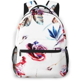 リュック バック 花の花植物, リュックサック ビジネスリュック メンズ レディース カジュアル 男女兼用大容量 通学 旅行 鞄 カバン
