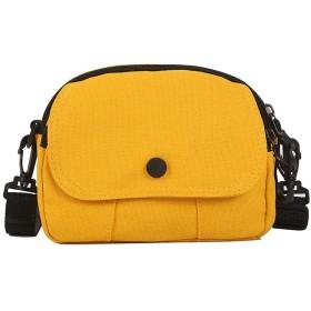 女性のキャンバスメッセンジャーバッグソリッドカラーの再利用可能な女性スモールミニメッセンジャーショルダーバッグfeminina小広場黄色のバッグbolsasを、YELLOW