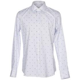 《セール開催中》ANDREA ZENI メンズ シャツ ダークブルー 40 コットン 97% / ポリウレタン 3%