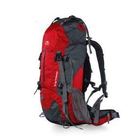 大容量アウトドア登山ショルダーバッグ宅配カバー,45 + 5L赤