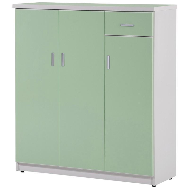 【C986-09】塑鋼鞋櫃(SH-301)(綠門、白色)