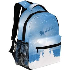 Carrozza リュックサック 学生 リュック 大容量 ディバッグ レディース 子供 おしゃれ 通勤 雪柄 クリスマス サンタクロース バックパック 通学 メンズ かわいい