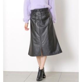 【ミューズ リファインド クローズ/MEW'S REFINED CLOTHES】 合皮セミフレアスカート