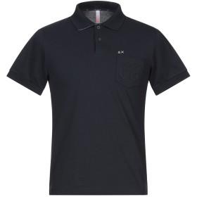 《セール開催中》SUN 68 メンズ ポロシャツ ダークブルー S コットン 95% / ポリウレタン 5%