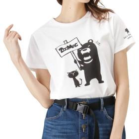 ZOOMAC(ズーマック) プリントTシャツ 半袖Tシャツ クルーネック プリントTシャツ EJ193-WC159 レディース ホワイト:L