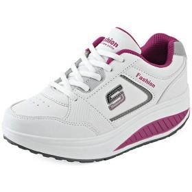 [Bopoli] レディーズ White Sneakers プラットフォーム サンダル Trainers Basket カジュアルl ブーツ Tenis ブーツ