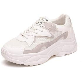 [Bopoli] レディーズ ファッション Mesh 通気性 Sports Sneakers サンダル Flexible プラットフォーム Slip-on カジュアルl Walking ブーツ