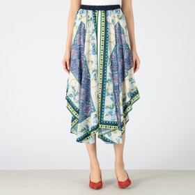 AULA AILA(アウラアイラ)/スカーフプリントスカート
