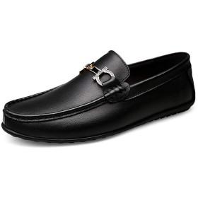 [BNKSDJ] ドライビングシューズ デッキ メンズ スリッポン ローファー カジュアルシューズ 本革 牛革 メンズシューズ ビット付き 革靴 紳士靴 ホワイト ブラック 純色 防滑 防水 フォーマル 春夏秋 大きいサイズ 小さいサイズ